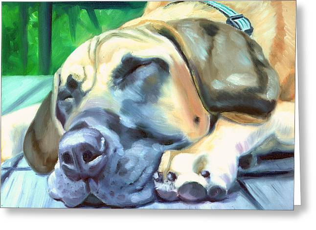 K9 Greeting Cards - Siesta - Great Dane Greeting Card by Lyn Cook