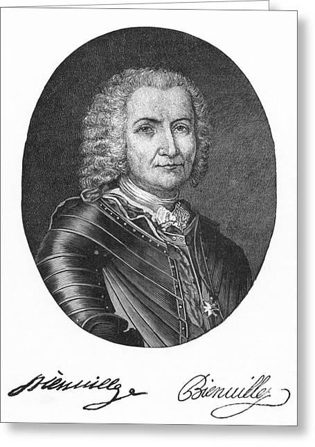 Autograph Greeting Cards - Sieur De Bienville (1680-1747) Greeting Card by Granger