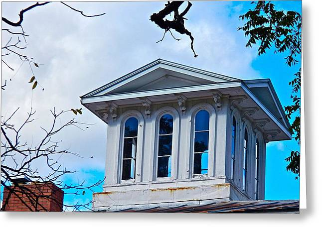 Recently Sold -  - Civil War Site Greeting Cards - Sightseeing Cupola Greeting Card by Randy Rosenberger