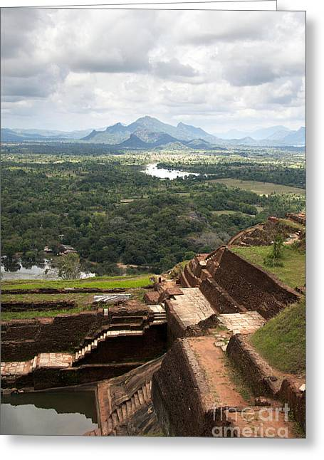 Stepping Stones Greeting Cards - Sigiriya ruins Greeting Card by Jane Rix