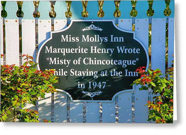 Old Inns Photographs Greeting Cards - Sign For Miss Mollys Inn Greeting Card by Steven Ainsworth
