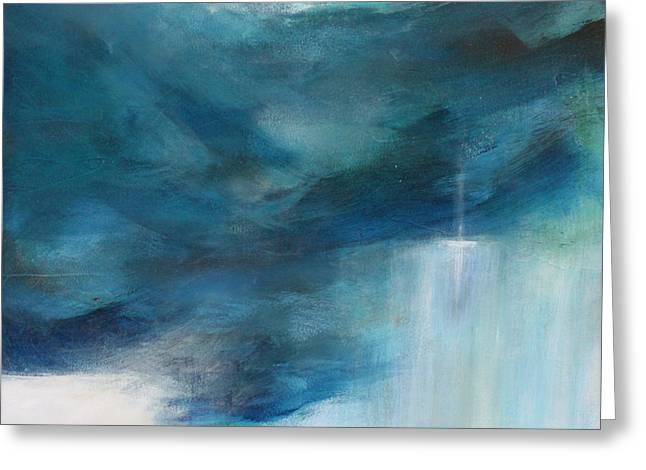 Storm Prints Paintings Greeting Cards - Sign From Above Greeting Card by Toni Grote