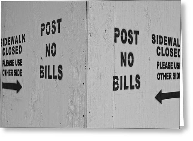 Contradictions Greeting Cards - Sign of the Times Greeting Card by Robert Ullmann