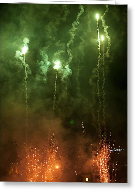 Pyrotechnics Greeting Cards - Signal Flares Greeting Card by Paul Mangold