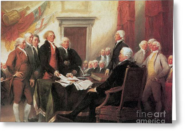 Robert Adam Greeting Cards - Signing Of The Declaration Greeting Card by Photo Researchers
