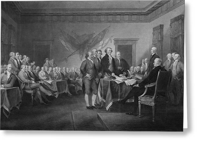 President Adams Greeting Cards - Signing The Declaration of Independence Greeting Card by War Is Hell Store