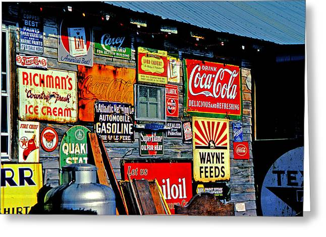 Signs Greeting Card by Mike Flynn