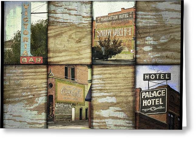 Palace Hotel Greeting Cards - Signs of Salida Greeting Card by Ann Powell