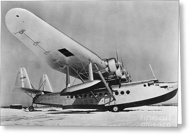 American Airways Greeting Cards - Sikorsky S-42 Greeting Card by Photo Researchers