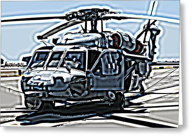 Samuel Sheats Greeting Cards - Sikorsky UH-60 Blackhawk Helicopter Greeting Card by Samuel Sheats