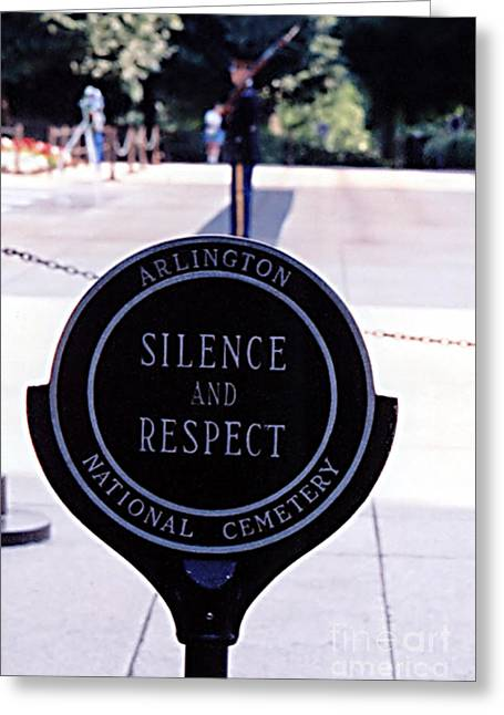 Deference Greeting Cards - Silence And Respect Greeting Card by Susan Stevenson