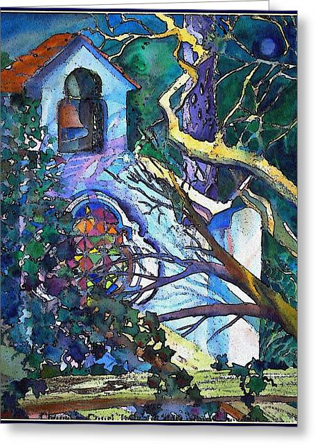 Silence At St. Michel Chapel In Capri Italy Greeting Card by Mindy Newman