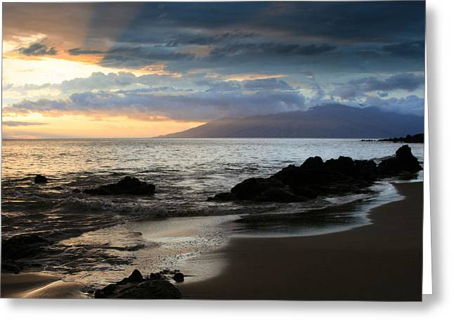 Crepuscular Rays Greeting Cards - Silence of Devotion Greeting Card by Sharon Mau