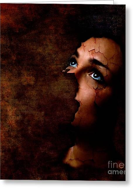 Depression Greeting Cards - Silenced Greeting Card by Photodream Art