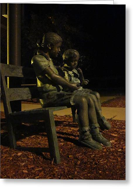 Silent Children Greeting Card by Guy Ricketts