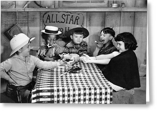 Silent Film Greeting Cards - Silent Film: Little Rascals Greeting Card by Granger