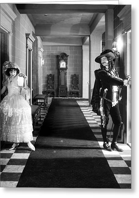 Ecromance Greeting Cards - Silent Film Still: Costumes Greeting Card by Granger