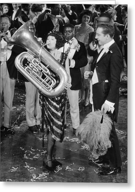 Tubist Greeting Cards - Silent Film Still: Music Greeting Card by Granger