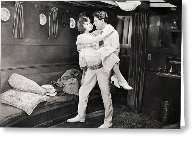 Ecromance Greeting Cards - Silent Film Still: Ships Greeting Card by Granger