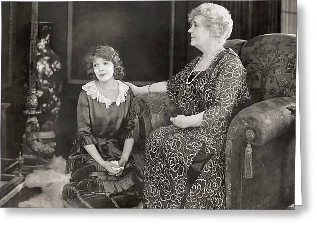 Consolation Greeting Cards - Silent Film Still: Women Greeting Card by Granger
