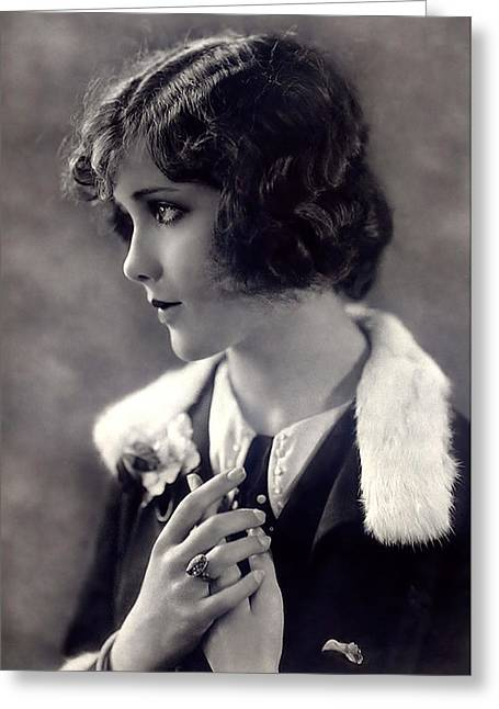 Silent Movie Star Greeting Card by Stefan Kuhn