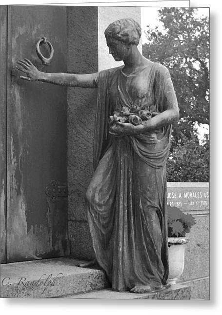 Metairie Cemetery Greeting Cards - Silent Visitor Greeting Card by Cheri Randolph