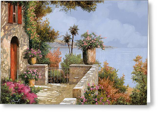 Villa Paintings Greeting Cards - Silenzio Greeting Card by Guido Borelli