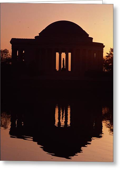 Jefferson Greeting Cards - Silhouette Against A Twilight Sky Greeting Card by Medford Taylor