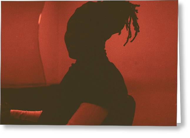 African-american Photographs Greeting Cards - Silhouette Greeting Card by Fern Logan
