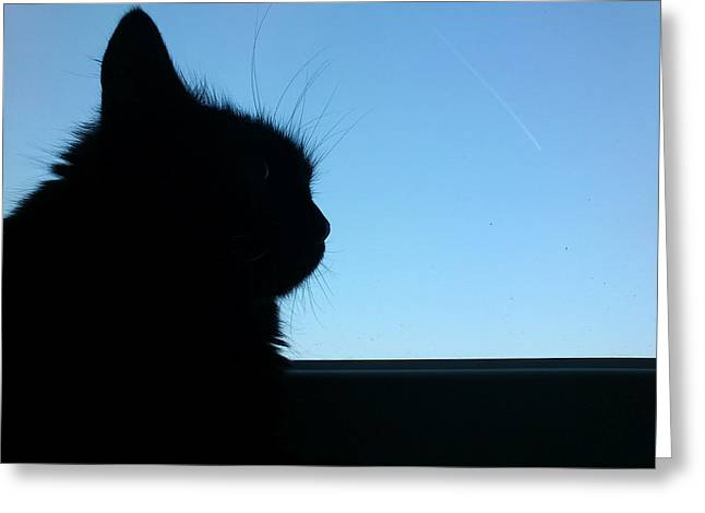 Silhouette Greeting Card by Lucy D