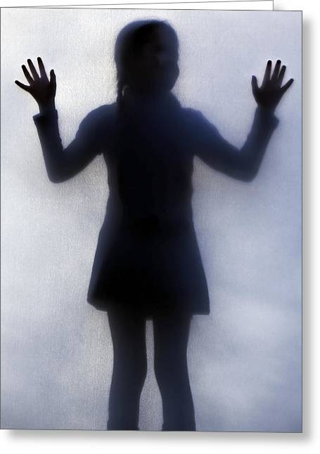 Braid Greeting Cards - Silhouette Of A Girl Greeting Card by Joana Kruse