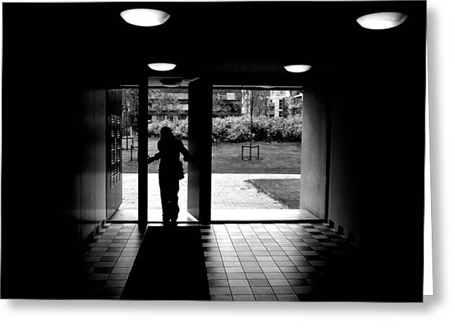 Silhouettes Greeting Cards - Silhouette of a man Greeting Card by Fabrizio Troiani