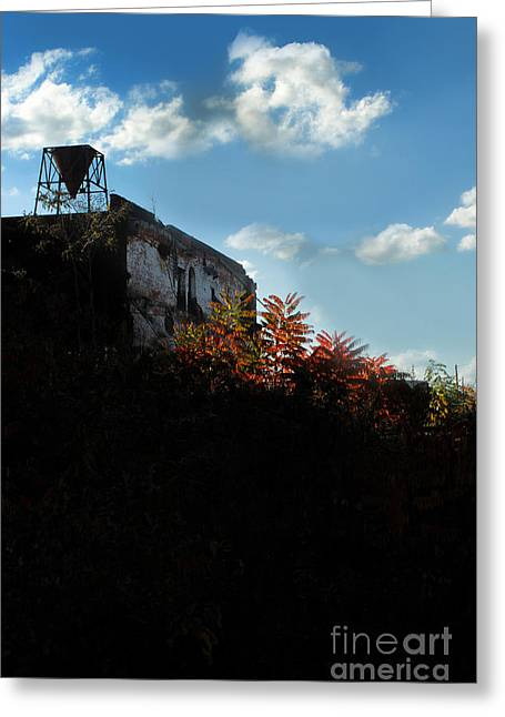 Old Tower Greeting Cards - Silhouette Of An Old Mill At Sunset Greeting Card by HD Connelly