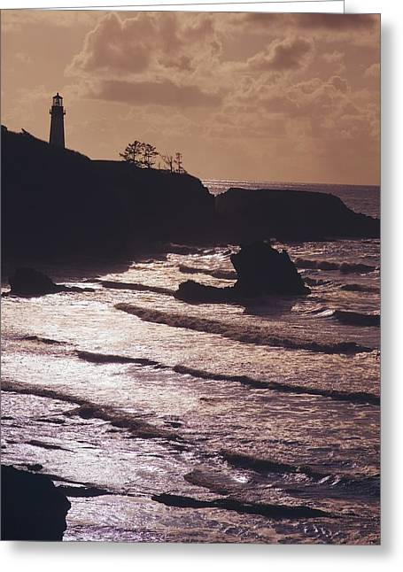 Silhouette Of Lighthouse Greeting Card by Craig Tuttle