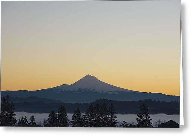 Ground Level Greeting Cards - Silhouette Of Mountain Peak At Sunrise Greeting Card by Craig Tuttle