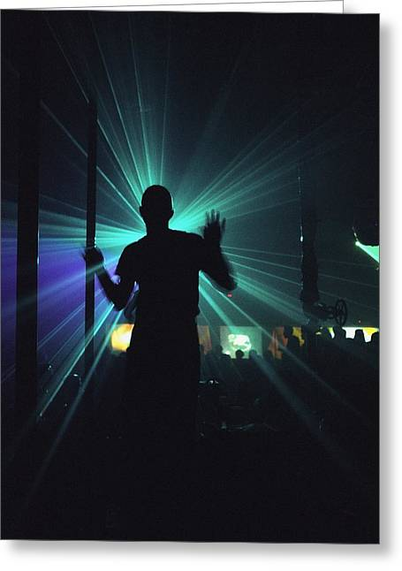 Tallinn Greeting Cards - Silhouette Of Person Clubbing In Greeting Card by Axiom Photographic