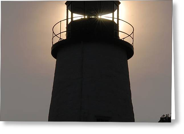 Silhouetted Pemaquid Lighthouse Greeting Card by Darlyne A. Murawski