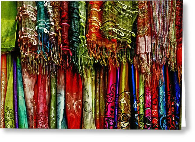 No Clothing Greeting Cards - Silk Greeting Card by Skip Nall