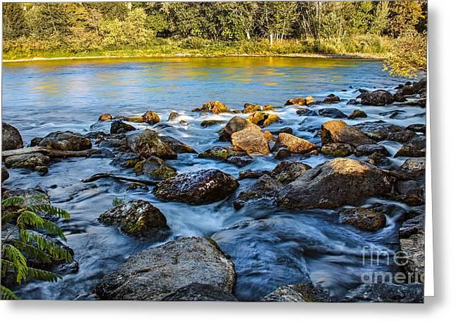 Idaho Photography Greeting Cards - Silk Water Greeting Card by Robert Bales