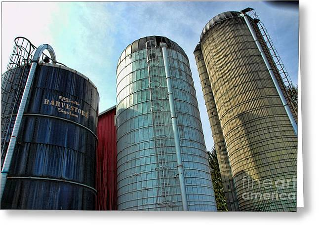 SILOS Greeting Card by Paul Ward