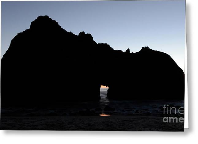 Pfeiffer Greeting Cards - Silouette Pfeiffer Rock Greeting Card by Bob Christopher