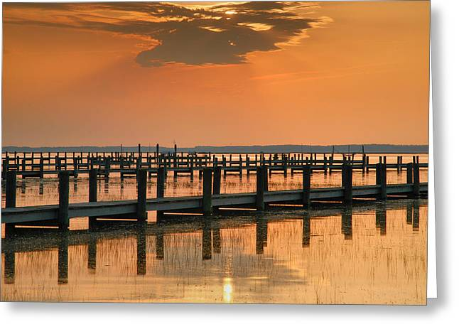 Sunset Prints Greeting Cards - Silver And Gold Greeting Card by Steven Ainsworth