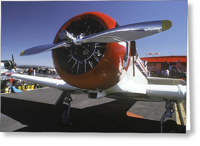 Plane Radial Engine Greeting Cards - Silver and Red Greeting Card by Joe  Palermo