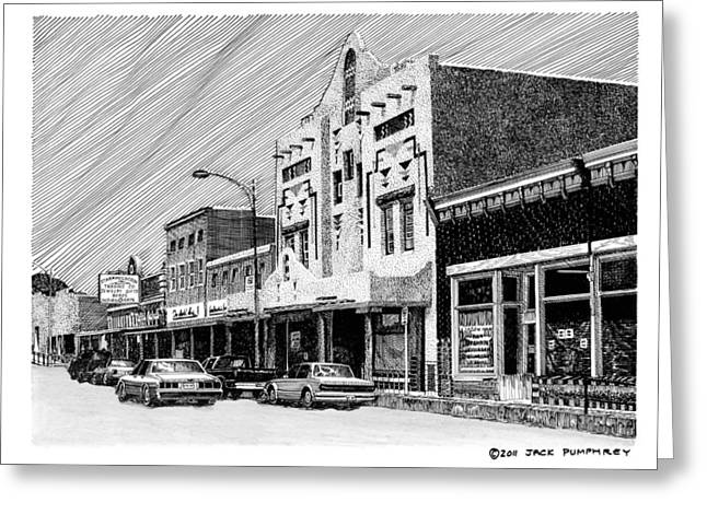 Important Drawings Greeting Cards - Silver City New Mexico Greeting Card by Jack Pumphrey