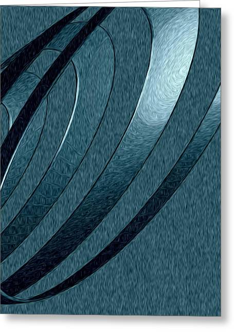Kevin Sherf Greeting Cards - Silver Coil of Happy Greeting Card by Kevin  Sherf