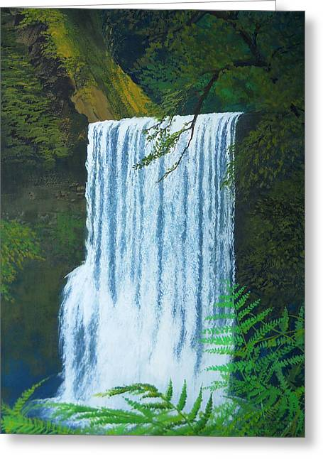 Robert Duvall Greeting Cards - Silver Falls Greeting Card by Robert Duvall