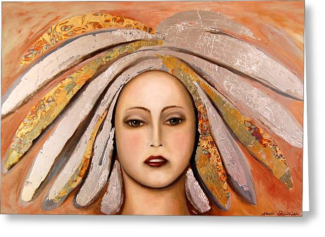 Silver Greeting Card by Leah Saulnier The Painting Maniac