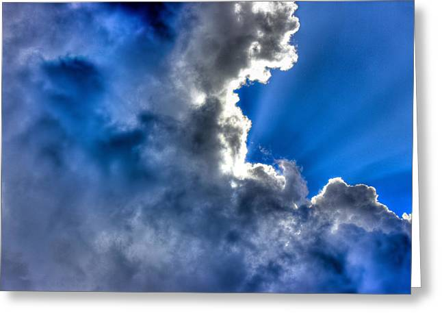 Colorful Cloud Formations Paintings Greeting Cards - Silver Lining Greeting Card by Barry Jones