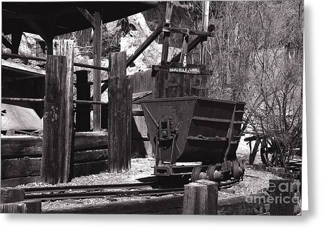 Touristy Greeting Cards - Silver Mining in Calico California Greeting Card by Susanne Van Hulst