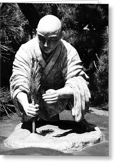 Kloster Greeting Cards - Silver-Monk Greeting Card by Juergen Weiss